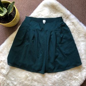 A New Day Green Plaid Skirt